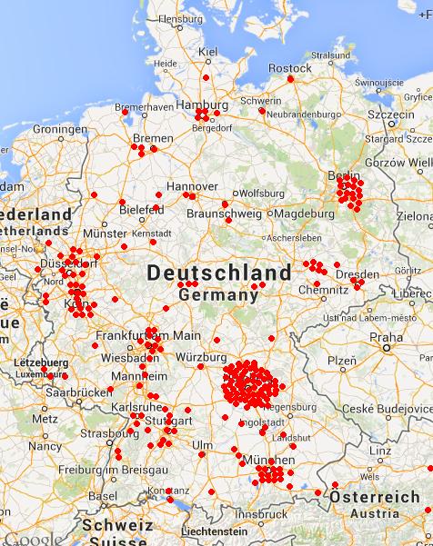 Crowdfunder-Geographisch